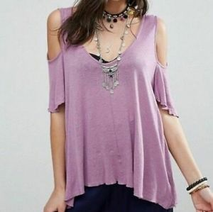 Free People Cold Shoulder top XS